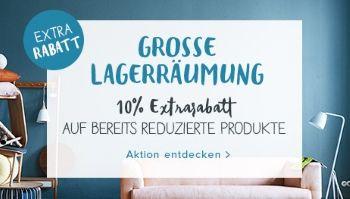 10% Extrarabatt bei Home24 - Grosse Lagerräumung