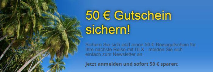 HLX Newsletter abonnieren und 50€ Gutschein sichern!