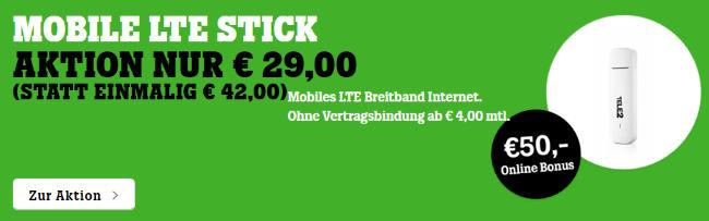 50€ Online Bonus: Mobile LTE Stick