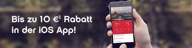 Bis zu 10€ Rabatt in der Airberlin iOS App