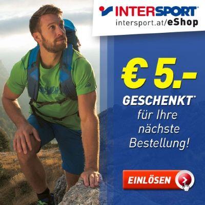 INTERSPORT: 5€ geschenkt für Ihren nächsten Kauf!