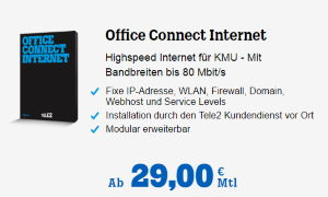 Office Connect ab 29€ bei Tele2