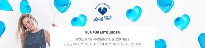 25€ Gutschein inkl. 5% Online Bonus für Mitglieder des Falkensteiner Spirit Clubs