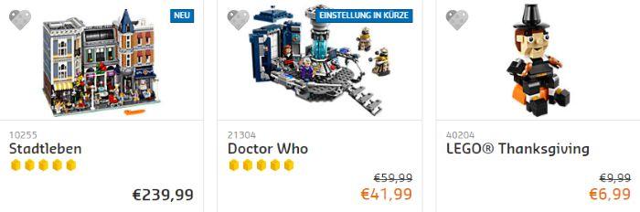 Bis zu 30% Rabatt bei Lego