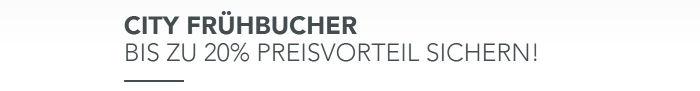 City Frübucher - Bis zu 20% Preisvorteil sichern bei Falkensteiner