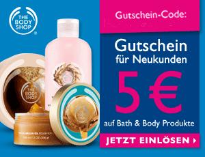 5€ Gutschein für Neukunden von The Body Shop