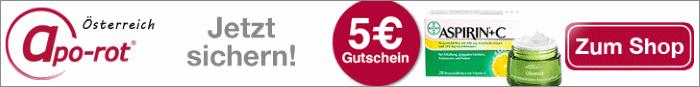 Sichern Sie sich den 5€ Gutschein von Apo Rot