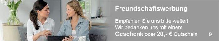 Freundschaftswerbung - Epfehlen Sie Erwin Müller weiter und wir bedanken uns mit einem Geschenk oder 20€ Gutschein