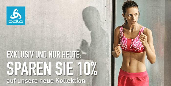 Exklusiv und nur heute: Sparen Sie 10% auf unsere neue Kollektion - Odlo