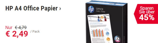 Sparen Sie über 45% auf HP A$ Office Papier bei Viking
