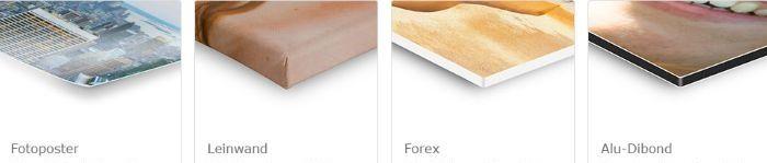 Fotoposter, Leinwand, Forex, Alu-Dibond - Materialienauswahl bei Pixum