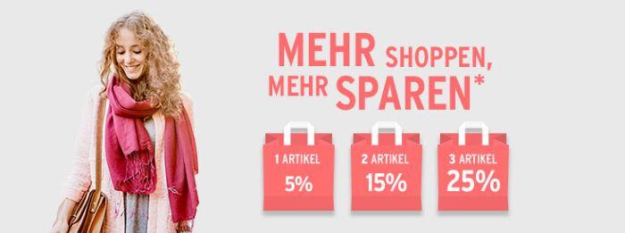 Mehr shoppen - mehr sparen: Auf 3 Artikel sogar 25% Rabatt bei Tchibo!
