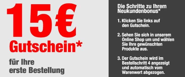 15€ für Ihre erste Bestellung bei QUELLE
