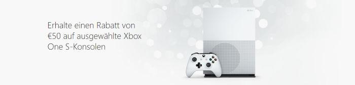 50€ Rabatt auf ausgewählte Xbox One S-Konsolen