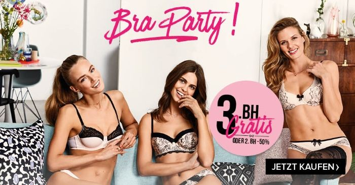 Hunkemöller: Bra-Party 3. BH gratis