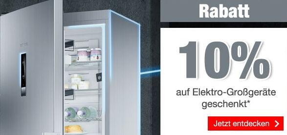 QUELLE: 10% Rabatt auf Elektro-Großgeräte geschenkt!