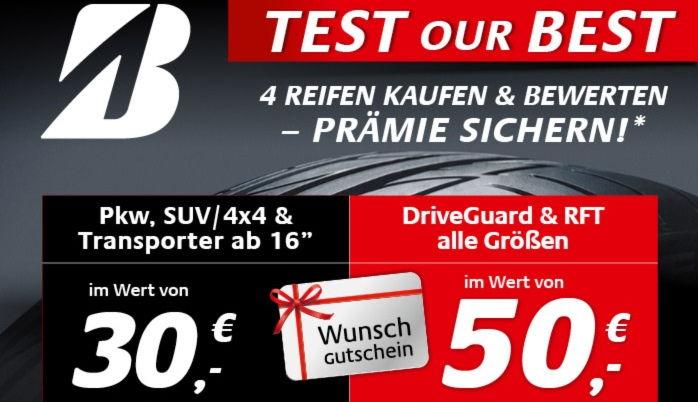 30€ oder 50€ Prämie sichern bei Reifendirekt.at