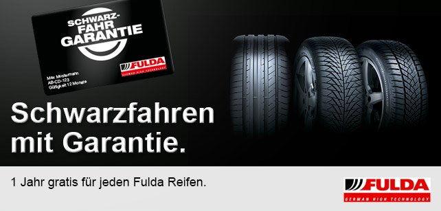 Reifendiscount.at - Schwarzfahren mit Garantie: 1 Jahr gratis für jeden Fulda Reifen!