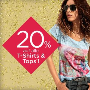 20% Rabatt auf alle T-Shirts & Tops bei heine