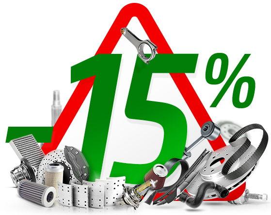15% Rabatt von Pkwteile