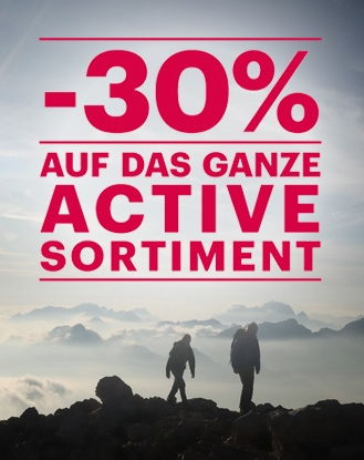 """30% Rabatt auf das ganze """"Active"""" Sortiment von Charles Vögele"""
