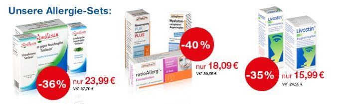 Bis zu 40% Rabatt auf Allerigie-Sets bei shop-apotheke.at