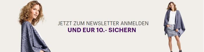 Jetzt zum Charles Vögele Newsletter anmelden und 10€ sparen!