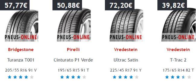 Reifen ab 40€ bei Pneus Online
