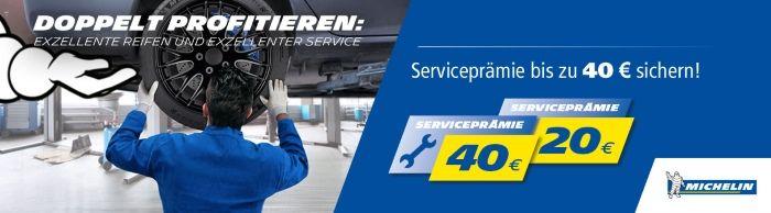 Bis zu 40€ Service-Prämie sichern im Reifenshop.at