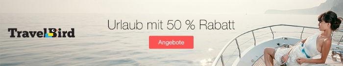 Urlaub mit 50% Rabatt bei TravelBird