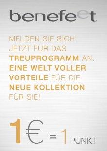 Benefeet - Melden Sie sich jetzt für das Traumprogramm an: 1€ = 1 Punkt