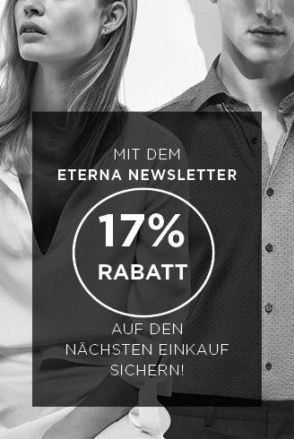 Mit dem eterna Newsletter 15% Rabatt auf den nächsten Einkauf sichern!