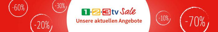 Bis zu 70% Sale im 1-2-3.tv Sale