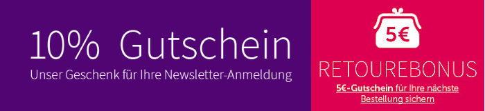 10% Gutschein für ambellis Newsletter-Anmeldung + 5€ Retourebonus!