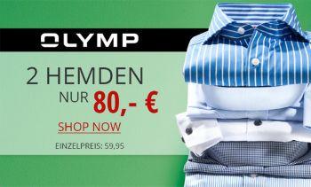 2 Olymp Hemden nur 80€ nur bei HIRMER!