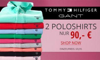 2 Tomy Hilfiger Poloshirts nur 90€ bei HIRMER