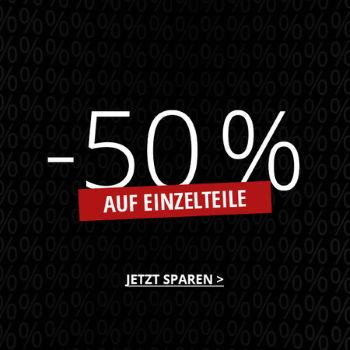 50% Rabatt auf Einzelteile bei HIRMER
