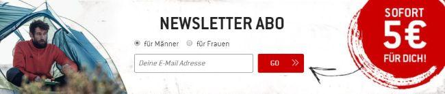 Bergfreunde Newsletter Abo -Sofort 5€ für dich!