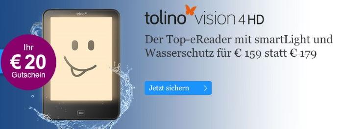 eBook.de: 20€ Gutschein für Tolino Vision