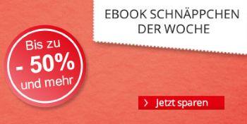 eBook Schnäppchen der Woche bei Hugendubel - Bis zu 50% und mehr!