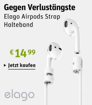 Gegen Verlustängste: erlago Airpods für 14.99€ bei GRAVIS