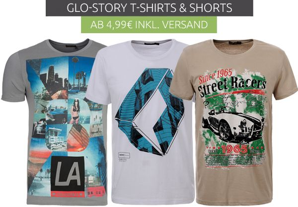 Glo-Story T-Shirts & Shorts ab 4.99€ inkl. Versand bei Outlet46