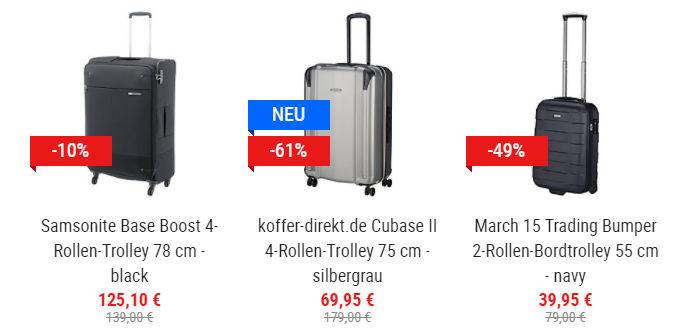 koffer-direkt: Bis zu 61% Rabatt