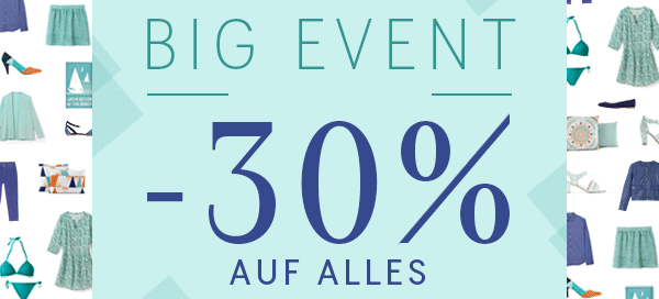 La Redoute BIG EVENT -30% auf alles!