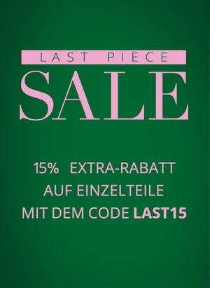 Last Piece SALE: 15% Extra-Rabatt bei Peek & Cloppenburg!