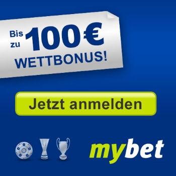 mybett 100€ Wettbonus - Jetzt anmelden!