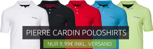 Pierre Cardin Poloshirts nur 9.99€ inkl. Versand bei Outlet46