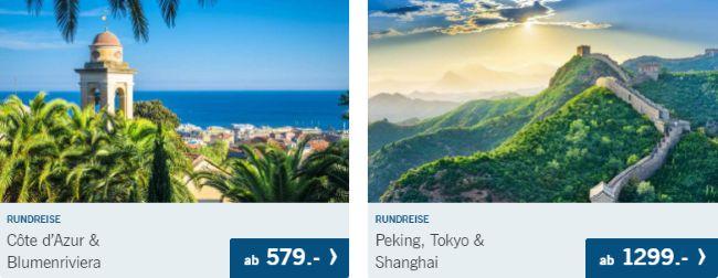 Lidl-Reisen: Cote d'Azur Bilumenriviera ab 579€ oder Peking, Tokyo und Shanghai ab 1299€!