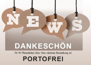 Mona News - Dankeschön für Neasletter-Abo: Ihre nächste Bestellung ist PORTOFREI!