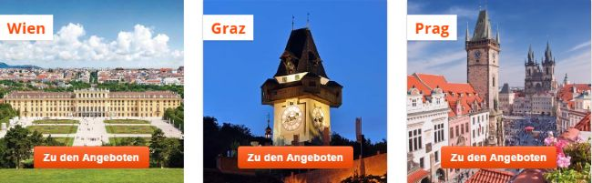 we-are.travel Angebote Wien - Graz - Prag